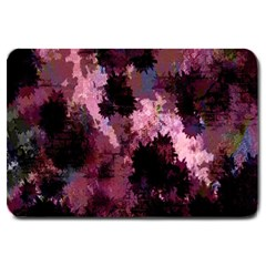 Grunge Purple Abstract Texture Large Doormat