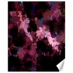 Grunge Purple Abstract Texture Canvas 11  X 14