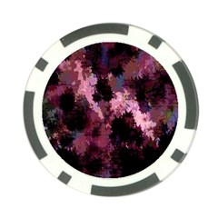 Grunge Purple Abstract Texture Poker Chip Card Guard