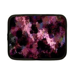 Grunge Purple Abstract Texture Netbook Case (small)