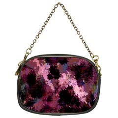 Grunge Purple Abstract Texture Chain Purses (one Side)