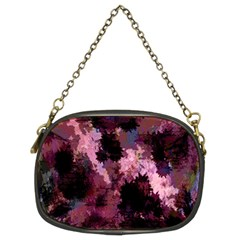 Grunge Purple Abstract Texture Chain Purses (Two Sides)