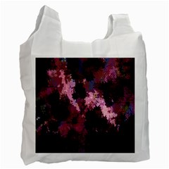 Grunge Purple Abstract Texture Recycle Bag (one Side)