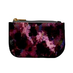 Grunge Purple Abstract Texture Mini Coin Purses