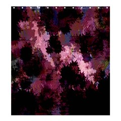 Grunge Purple Abstract Texture Shower Curtain 66  X 72  (large)