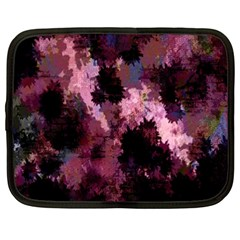 Grunge Purple Abstract Texture Netbook Case (XXL)