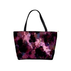Grunge Purple Abstract Texture Shoulder Handbags