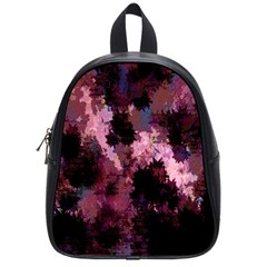 Grunge Purple Abstract Texture School Bags (Small)