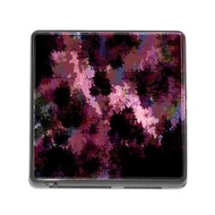 Grunge Purple Abstract Texture Memory Card Reader (square)