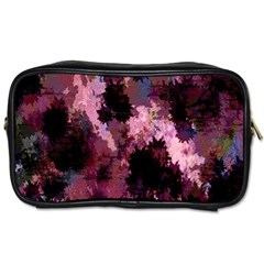 Grunge Purple Abstract Texture Toiletries Bags 2-Side