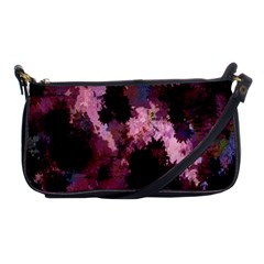 Grunge Purple Abstract Texture Shoulder Clutch Bags