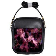 Grunge Purple Abstract Texture Girls Sling Bags