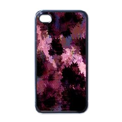 Grunge Purple Abstract Texture Apple iPhone 4 Case (Black)