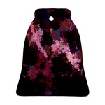Grunge Purple Abstract Texture Bell Ornament (Two Sides) Front