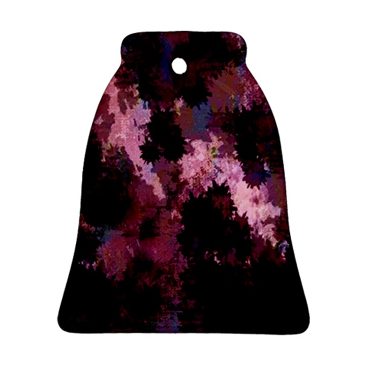 Grunge Purple Abstract Texture Bell Ornament (Two Sides)