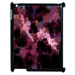 Grunge Purple Abstract Texture Apple iPad 2 Case (Black)