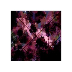 Grunge Purple Abstract Texture Acrylic Tangram Puzzle (4  X 4 )