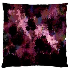 Grunge Purple Abstract Texture Large Cushion Case (Two Sides)