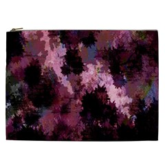 Grunge Purple Abstract Texture Cosmetic Bag (XXL)