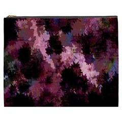 Grunge Purple Abstract Texture Cosmetic Bag (xxxl)