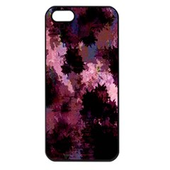 Grunge Purple Abstract Texture Apple iPhone 5 Seamless Case (Black)