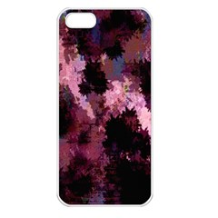 Grunge Purple Abstract Texture Apple iPhone 5 Seamless Case (White)