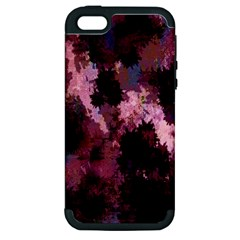 Grunge Purple Abstract Texture Apple iPhone 5 Hardshell Case (PC+Silicone)