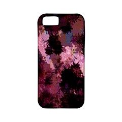Grunge Purple Abstract Texture Apple Iphone 5 Classic Hardshell Case (pc+silicone)