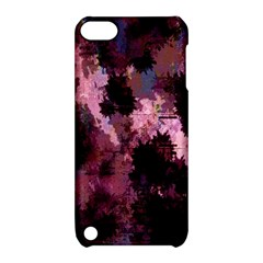 Grunge Purple Abstract Texture Apple Ipod Touch 5 Hardshell Case With Stand