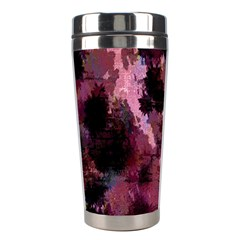 Grunge Purple Abstract Texture Stainless Steel Travel Tumblers