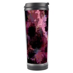 Grunge Purple Abstract Texture Travel Tumbler