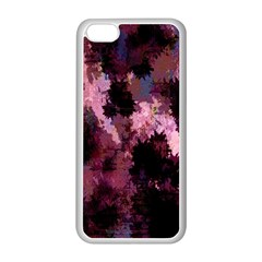 Grunge Purple Abstract Texture Apple iPhone 5C Seamless Case (White)