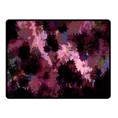 Grunge Purple Abstract Texture Double Sided Fleece Blanket (Small)