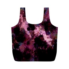 Grunge Purple Abstract Texture Full Print Recycle Bags (M)