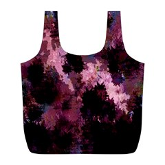 Grunge Purple Abstract Texture Full Print Recycle Bags (L)