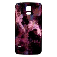 Grunge Purple Abstract Texture Samsung Galaxy S5 Back Case (White)