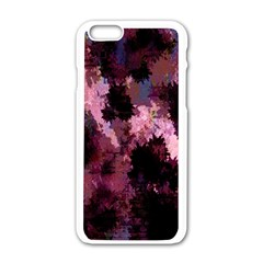 Grunge Purple Abstract Texture Apple Iphone 6/6s White Enamel Case