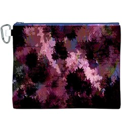 Grunge Purple Abstract Texture Canvas Cosmetic Bag (XXXL)
