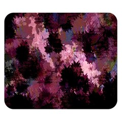 Grunge Purple Abstract Texture Double Sided Flano Blanket (small)