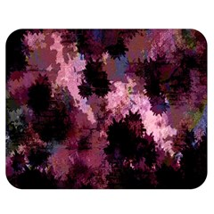 Grunge Purple Abstract Texture Double Sided Flano Blanket (Medium)