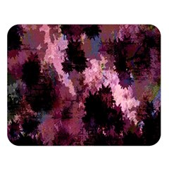 Grunge Purple Abstract Texture Double Sided Flano Blanket (Large)
