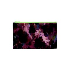 Grunge Purple Abstract Texture Cosmetic Bag (xs)