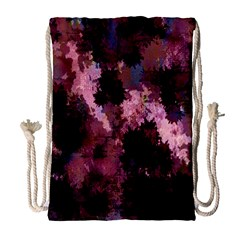 Grunge Purple Abstract Texture Drawstring Bag (Large)