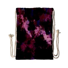 Grunge Purple Abstract Texture Drawstring Bag (small)