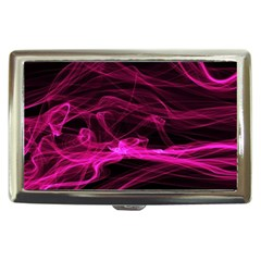 Abstract Pink Smoke On A Black Background Cigarette Money Cases