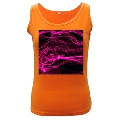 Abstract Pink Smoke On A Black Background Women s Dark Tank Top