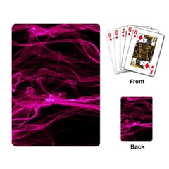 Abstract Pink Smoke On A Black Background Playing Card