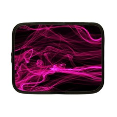 Abstract Pink Smoke On A Black Background Netbook Case (Small)