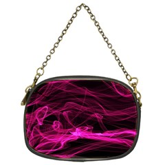 Abstract Pink Smoke On A Black Background Chain Purses (One Side)