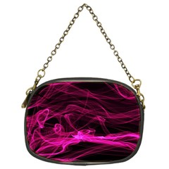 Abstract Pink Smoke On A Black Background Chain Purses (two Sides)
